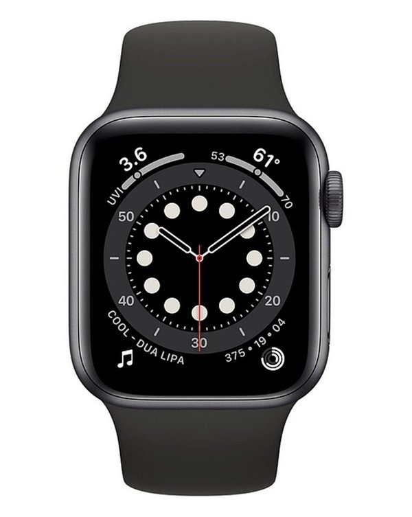 Apple Watch S6 40mm Space Gray Aluminum, Black Sport Band GPS